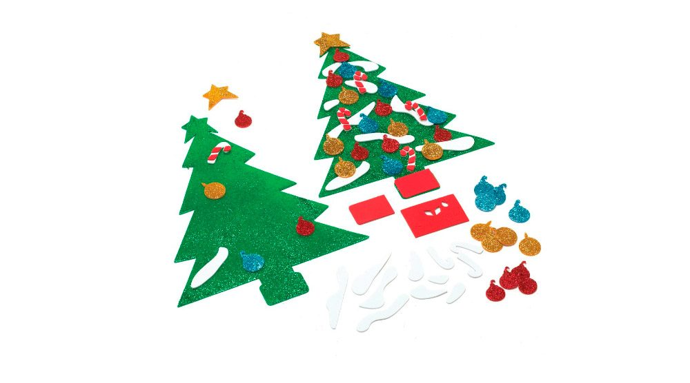 Dibujos de navidad en goma eva