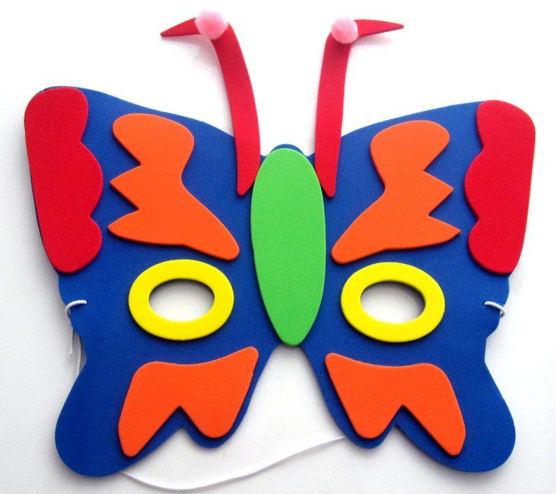 Careta de mariposas con Goma Eva :: Imágenes y fotos
