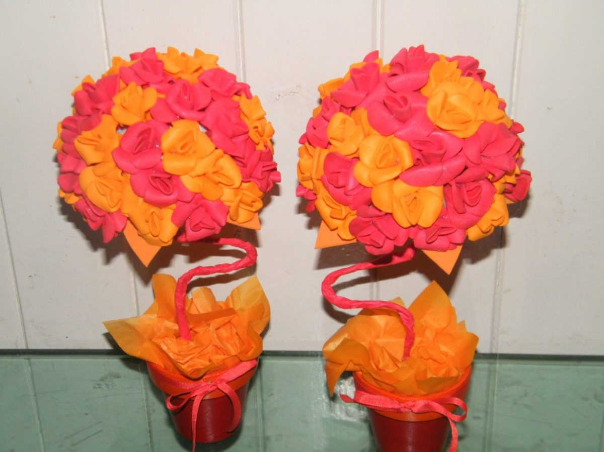 flores de colores en maceta goma eva    im u00e1genes y fotos